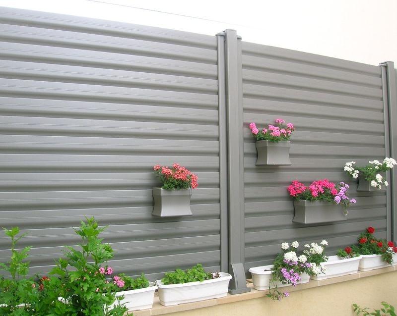 Cloture et brise vue - cloture aluminium - brise vue pour grillage rigide - réalisation - taravello (5)