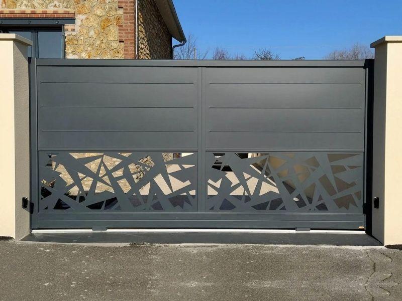Portail battant aluminium - fabricant portail coulissant et battant - produit - taravello (1)