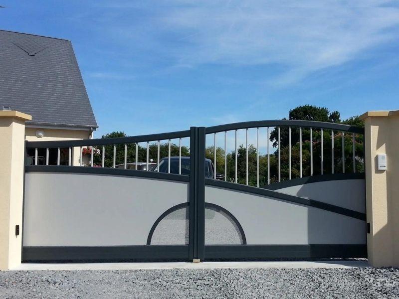 Portail battant aluminium - fabricant portail coulissant et battant - produit - taravello (2)