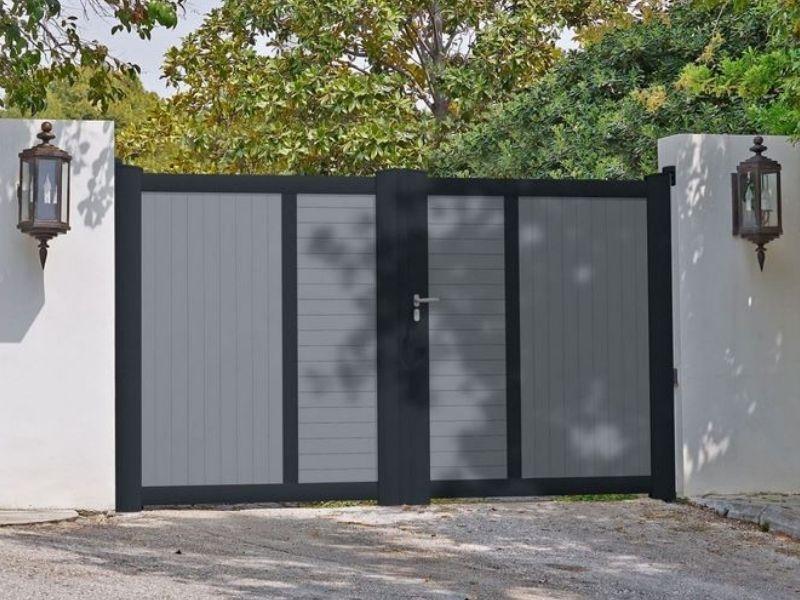 Portail battant aluminium - fabricant portail coulissant et battant - produit - taravello (3)