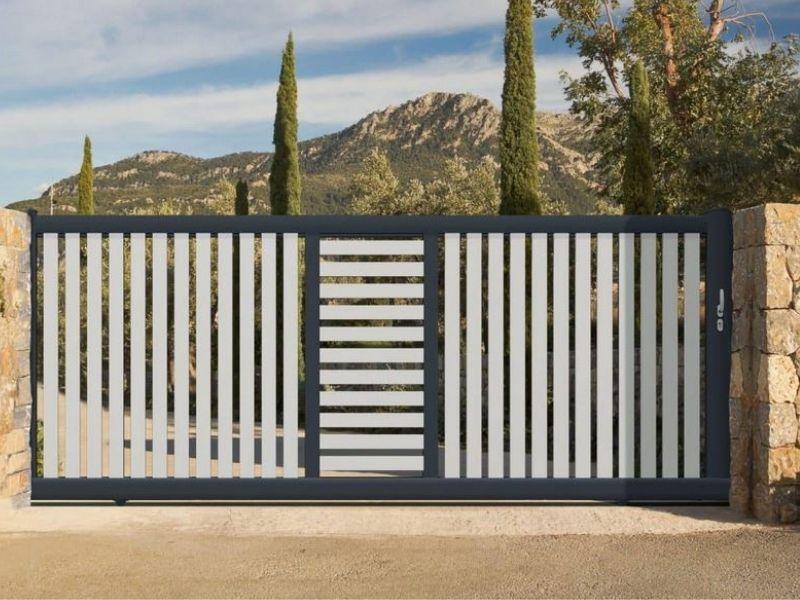 Portail battant aluminium - fabricant portail coulissant et battant - produit - taravello (4)