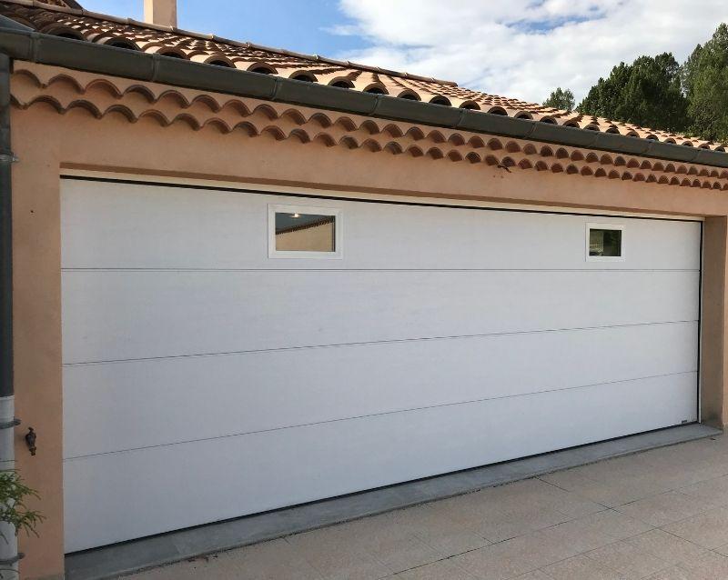 porte de garage - portes garage motorisées - realisation 3 - taravello