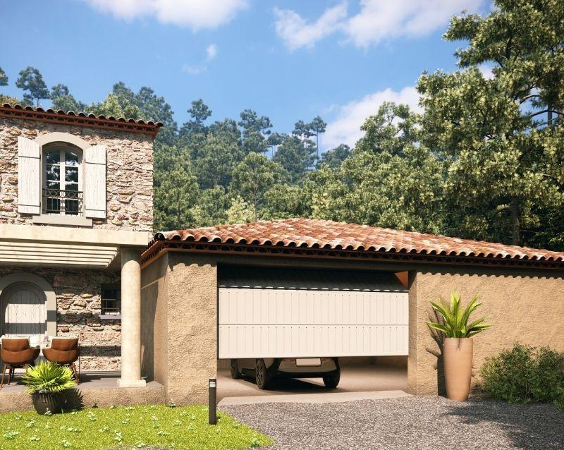 porte de garage - portes garage motorisées - realisation 6 - taravello