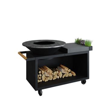 Brasero exterieur OFYR Island Black 100 PRO Céramique Anthracite - L'outdoor - Taravello