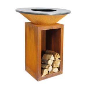 brasero pour terrasse - OFYR Classic Storage Corten 100 - L'outdoor - Taravello