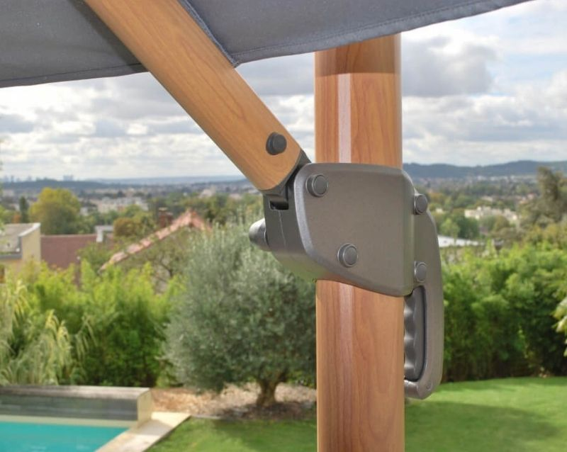 Parasol Déporté 3×3 Deluxe – Heat Transfer - Mobilier de jardin - Taravello
